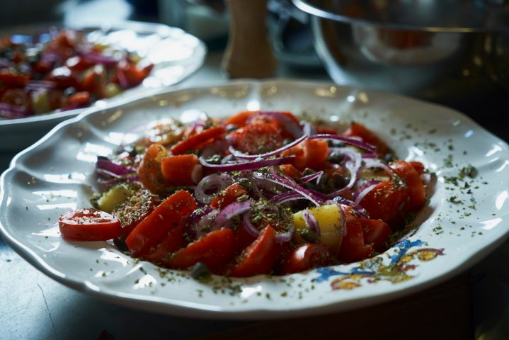 Potato Salad with Tomatoes and Capers, Pantelleria Style