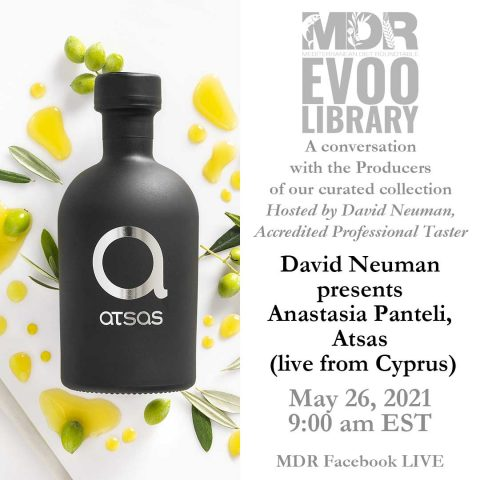MDR EVOO Library: David Neuman presents Anastasia Panteli, Atsas (live from Cyprus). May 11, 20219:00 am. MDR Facebook LIVE.