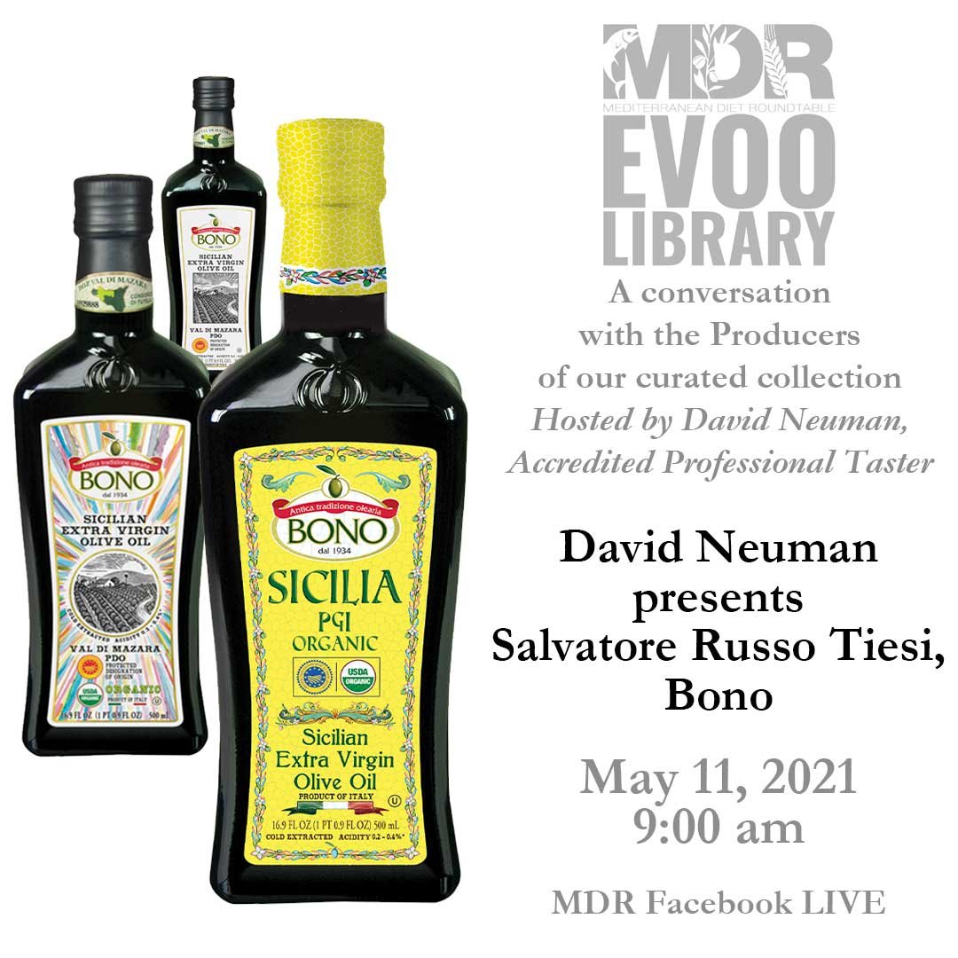 MDR EVOO Library: David Neuman presents Salvatore Russo Tiesi, Bono. May 11, 2021 9:00 am MDR Facebook LIVE