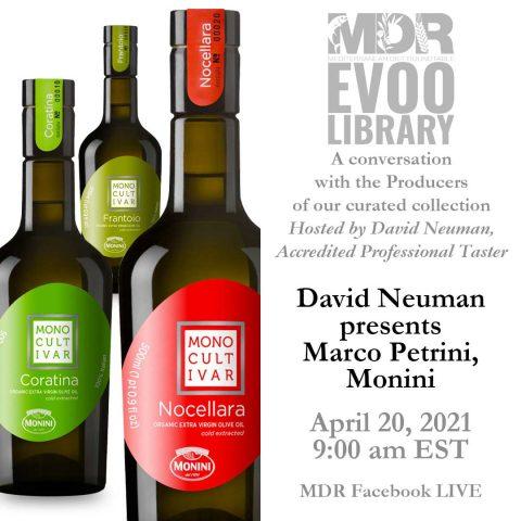 MDR EVOO Library: David Neuman presents Marco Petrini, Monini.