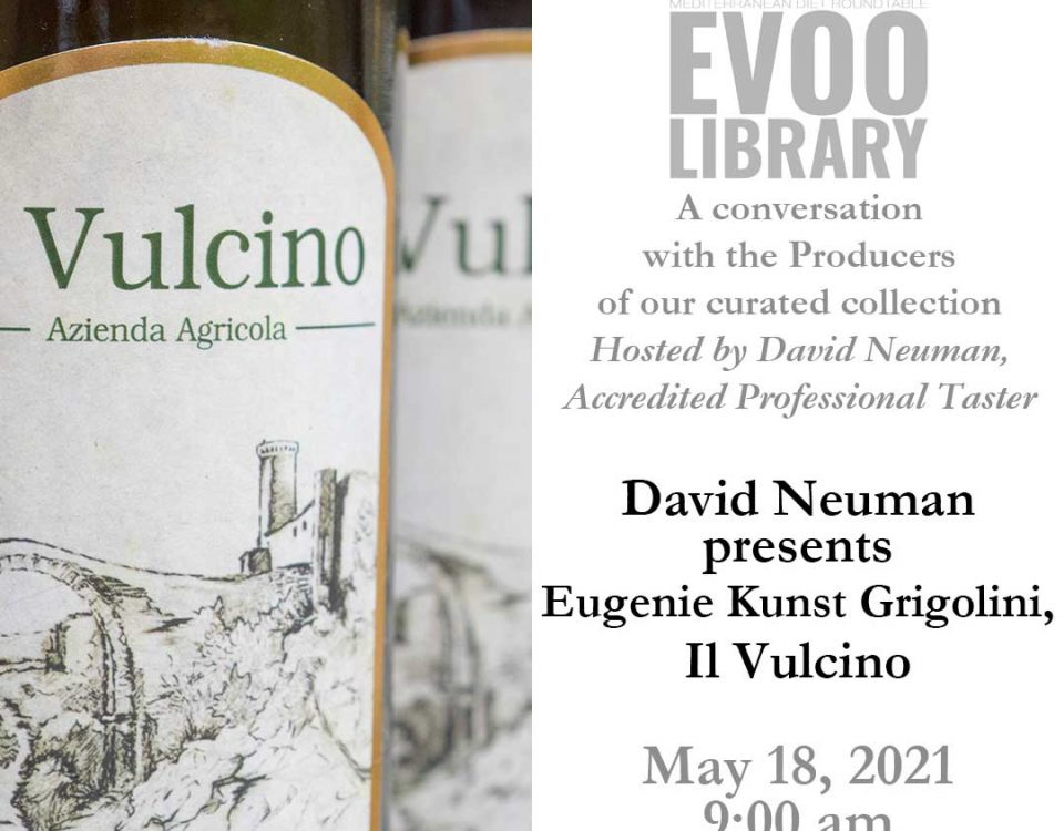 MDR EVOO Library: David Neuman presents Eugenie Kunst, Il Vulcino. May 18, 2021. 9:00 am.