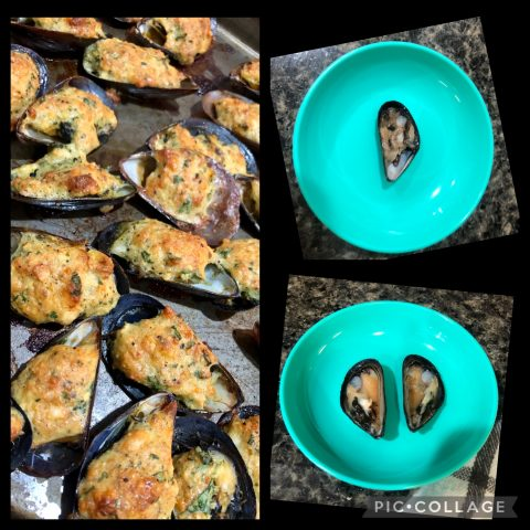 Baked mussels is a classic dish that Nonna Romana has carried with her from her days in Mola di Bari, Puglia. Even when times were hard, mussels were always plentiful in the fishing village, so plentiful that you could practically go down to the beach and scoop up your own!